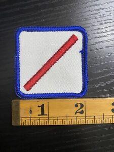 Vintage Slash Symbol / Patch Lettering Red White Blue B3