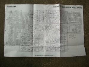 Schaltplan Schematic Diagramm für  Marantz 1150 D Verstärker