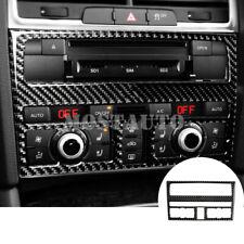For Audi Q7 Carbon Fiber Center Console CD & AC Panel Trim Cover 1pcs 2008-2015