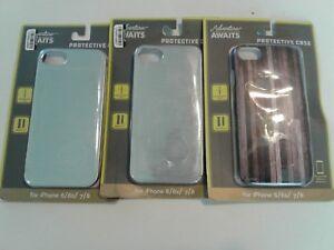 Vivitar iPhone Case 6/6s/7/8 - 2 Brushed Nickel color 1 wood look