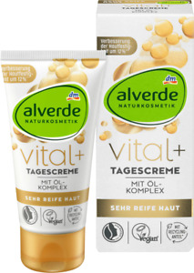 Alverde Vital+ Tagescreme Day Face Cream for Mature Skin Anti-wrinkles 50 ml