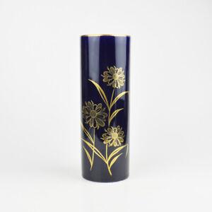 Kronester Bavaria Porcelain - Vase - 3298 - Blue & Gold - Cobalt - Flower