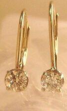 14KT White Gold Diamond .34 CTW Lever Back Earrings
