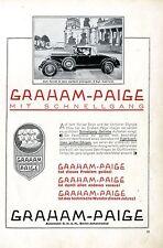 GRAHAM-PAIGE AUTOMOBIL-ROADSTER Berlin-Johannisthal  Historische Annonce 1928