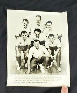 Vintage Press Photo Print 1958 American Bowling Congress Steve Nagy, Billy Welu