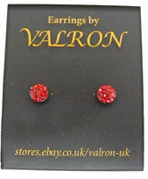 SPARKLE GLITTER BALL 5MM ROUND STUD EARRINGS IDEAL CHILDREN CHOICE OF COLOURS