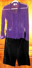 ANN TAYLOR Walking Shorts Size 0P & ALBA MODA Blouse Size S