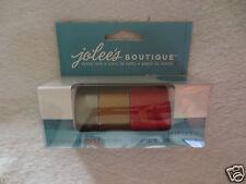 Jolees Boutique Paper Tape Set Red & Gold New Scrapbook
