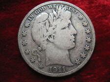 1911-S Barber Silver Half Dollar, BETTER GRADE Original Beauty! Fast Shipping!