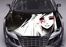 Black and White Hood Full Color Graphic Wrap Decal Vinyl Sticker Fit any Car 202