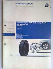 BMW AG Kundendienst-Schule Winterkompletträder und Winterartikel 2001 A-Seminar
