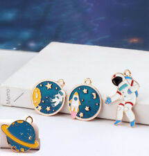 4pcs Planet spaceman Alloy Charms Pendant Jewelry Finding DIY Fit Necklace