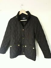 Dash Black Quilted Coat Size UK 10