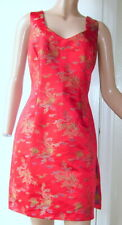 "Vintage 1950s-60s Dress - Red ""Fredericks of Hollywood"" label Sz L"
