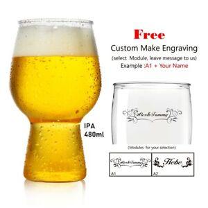 ToPanda IPA Craft Beer Glass ( 2 pcs ) Cocktail Cup Plastic Mug Free Engraving