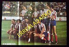 POSTER REVISTA ONZE FUTBOL ATLETICO MADRID 78-79 / VALENCIA C.F. SOLSONA-BONHOF