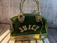 Juicy couture dog carrier travel pet AS IS purse Bag handbag tote shoulder green