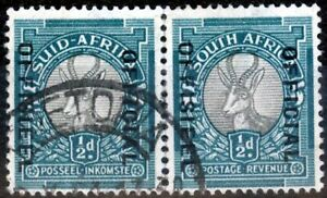 South Africa 1940 1/2d Grey & Blue-Green SG031a Fine Used (6)