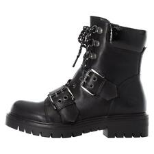 Ladies Rieker Boots Black Military Steampunk Style