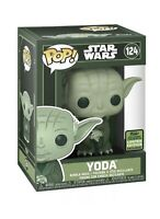 Star Wars Funko POP YODA 124 ECCC 2021 Convention Shared Target Exc In Hand READ