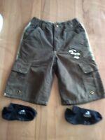 Shorts kurze Hose  Bermuda in Größe 128 von  C & A in oliv & Zugabe Adidas Sneak