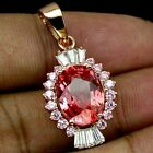 _LDN_Pendentif Saphirs Padparadscha _Argent 925 + plaque or 14ct