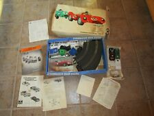 VINTAGE STROMBECKER SPORTS CAR ROAD RACING SET #9897 3 CARS AS IS IN BOX PAPERS