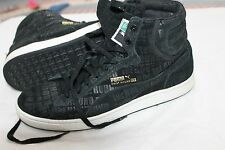 Puma First Round EX Black Suede Mid Classic Mens Suede Athletic Sneakers Size 10
