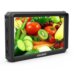 "Lilliput A5 5"" 1920x1200 8bit 4K HDMI DSLR Camera field monitor F970/LP-E6 Plate"