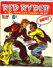 "Red Ryder No 92 1950's -Australian-""Fist Fight Cover ! """
