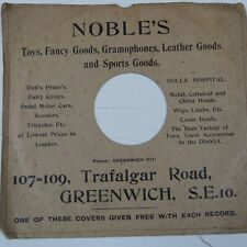 "78 rpm 10"" inch card gramophone record sleeve NOBLE'S GREENWICH TRAFALGER Rd 107"