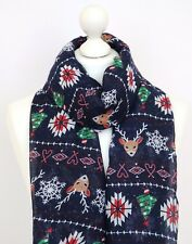 Glitter Christmas Reindeer Scarf Snowflake Scarf Ladies Christmas Gifts For Her