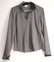 Danskin Now Women's Quarter Zip, Long Sleeve Pullover Size S (4-6)