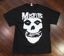 Misfits Punk Band Skull Logo Large Black T Shirt 2002 Danzig Samhain Jersey (A2)