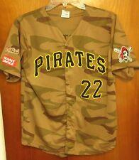 PITTSBURGH PIRATES camouflage baseball jersey Andrew McCutchen youth XL baseball