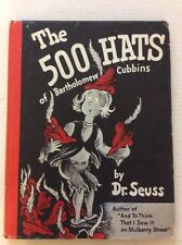 Vintage The 500 Hats Of Bartholomew Cubbins By Dr. Seuss.HCDJ.1St Edition.1938