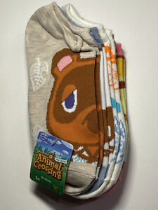 New Animal Crossing Ankle No Show Socks Set Of 5 Pack