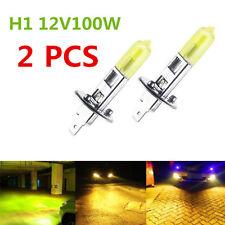 H1 12V 100w Hyper Yellow 3000k Xenon Gas High Beam Light Bulb Lamp 2pcs (1pair)