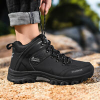 Men's Outdoor Leather Breathable Walking Hiking Trail Ankle Boots Plus Size 12