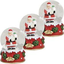 """3x Schneekugel Schnee-Kugel mit stimmungsvollem Weihnachtsmotiv """"Weihnachtsmann"""""""