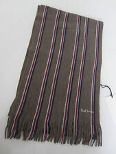"""Paul Smith SCARF MULTISTRIPE """"MAINLINE"""" 100% WOOL UNISEX 6ft x 10"""" Made in Italy"""