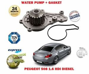 FOR PEUGEOT 508 1.6 HDI + SW 2010->NEW WATER PUMP + GASKET KIT