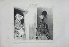 """Lithographie originale de DAUMIER, """"Types parisiens"""""""