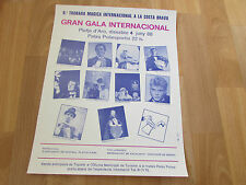 Grand International MAGIC  Gala  1988  COSTA Brava  Original Poster