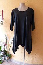 Magna centímetro túnica arte óptica piel 52 54 nuevo negro elástico a-form Lagenlook