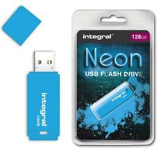 Integral 128GB Neon USB Flash Drive in Blue, a GADGET SHOW AWARD WINNER.