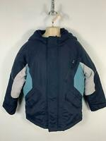 BOYS MARKS&SPENCER NAVY BLUE PADDED PUFFER SCHOOL RAIN COAT KIDS AGE 9/10 YEARS