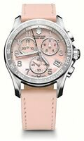 Victorinox Swiss Army Chrono MOP Dial SS Leather Quartz Ladies Watch 241419