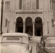 Vintage  Real Photo Athens Greece A Church Temple car Nice view February 1955
