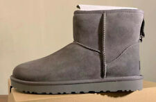 UGG CLASSIC MINI II GREY WOMAN'S BOOTS 1016222 SIZE 7, AUTHENTIC BRAND NEW